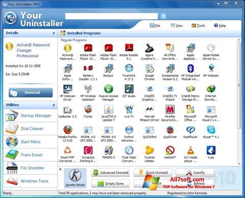 צילום מסך Your Uninstaller Windows 7