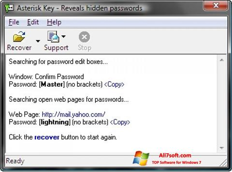 צילום מסך Asterisk Key Windows 7