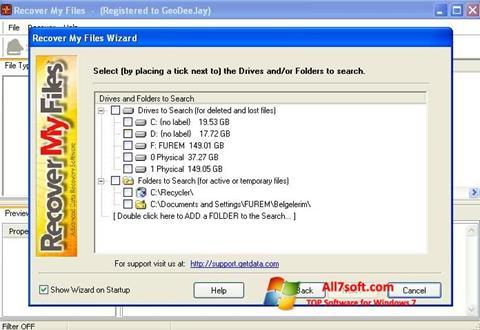 צילום מסך Recover My Files Windows 7