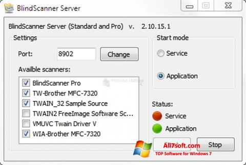 צילום מסך BlindScanner Windows 7
