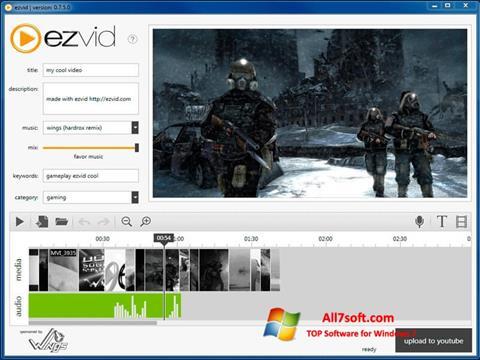 צילום מסך Ezvid Windows 7