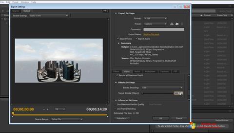 צילום מסך Adobe Media Encoder Windows 7