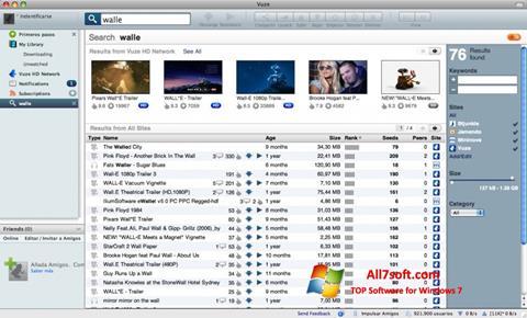 צילום מסך Vuze Windows 7