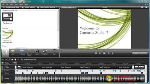 צילום מסך Camtasia Studio Windows 7