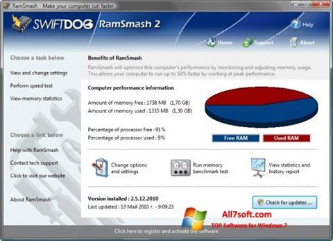 צילום מסך RamSmash Windows 7