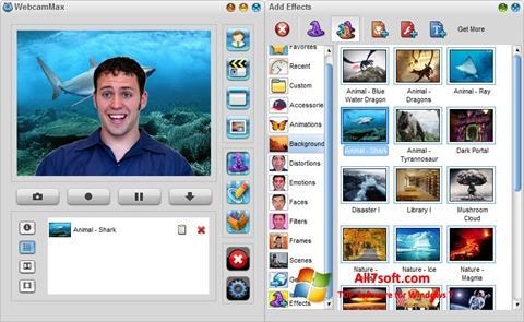 צילום מסך WebcamMax Windows 7