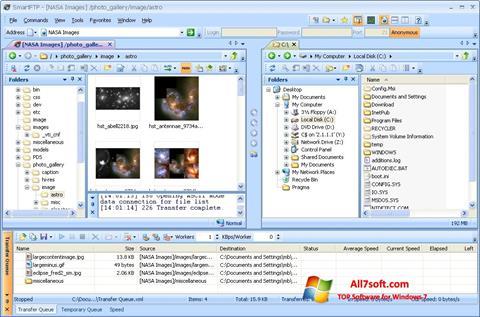 צילום מסך SmartFTP Windows 7