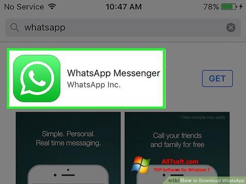 צילום מסך WhatsApp Windows 7