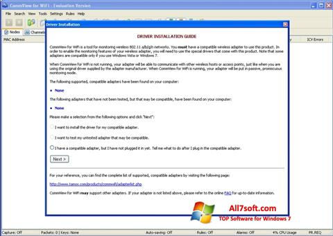 צילום מסך CommView for WiFi Windows 7