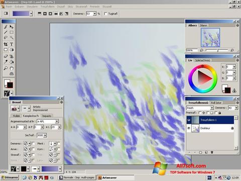 צילום מסך Artweaver Windows 7