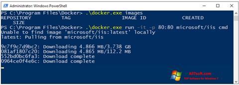 צילום מסך Windows PowerShell Windows 7