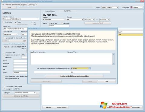 צילום מסך Scan2PDF Windows 7
