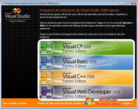 צילום מסך Microsoft Visual Studio Windows 7