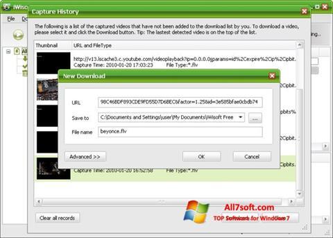צילום מסך Free Video Catcher Windows 7
