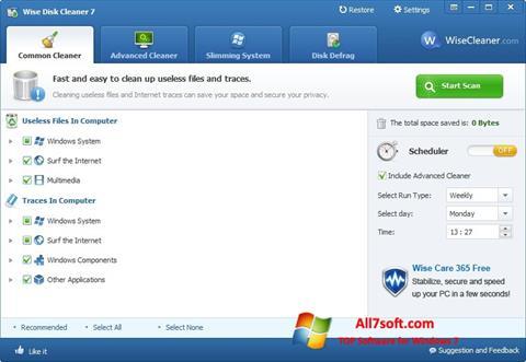 צילום מסך Wise Disk Cleaner Windows 7