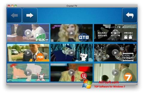 צילום מסך Crystal TV Windows 7