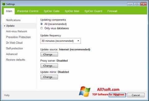 צילום מסך Dr.Web Security Space Windows 7