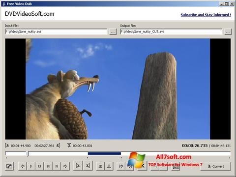 צילום מסך Free Video Dub Windows 7
