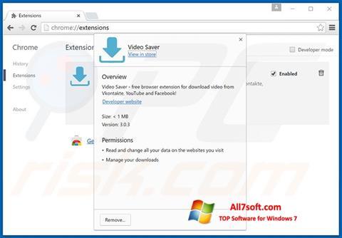 צילום מסך VideoSaver Windows 7