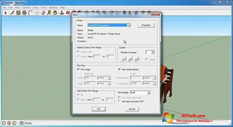 צילום מסך SketchUp Make Windows 7