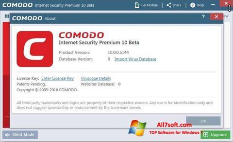 צילום מסך Comodo Windows 7