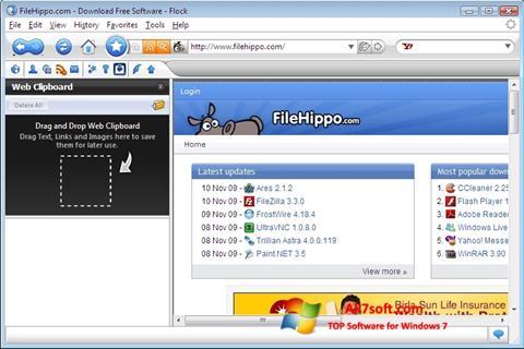 צילום מסך Flock Windows 7
