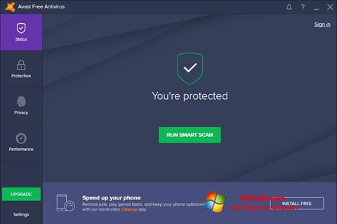 צילום מסך Avast Free Antivirus Windows 7