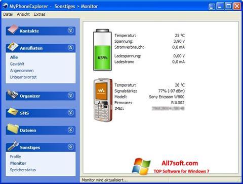 צילום מסך MyPhoneExplorer Windows 7