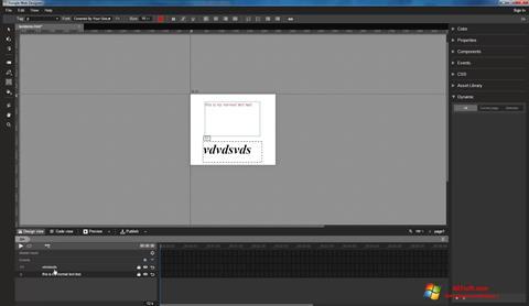 צילום מסך Google Web Designer Windows 7