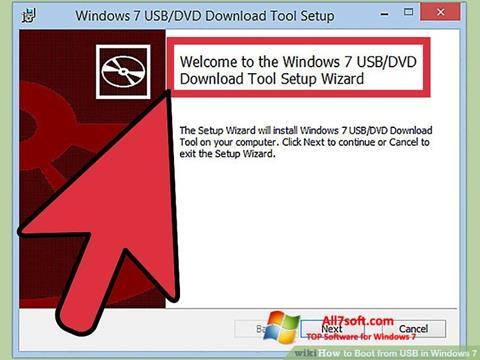 צילום מסך Windows 7 USB DVD Download Tool Windows 7