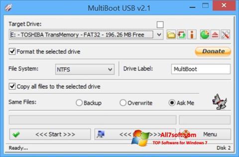 צילום מסך Multi Boot USB Windows 7