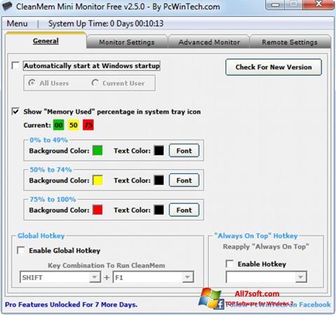 צילום מסך CleanMem Windows 7