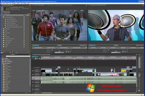 צילום מסך Adobe Premiere Pro Windows 7