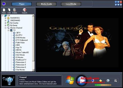 צילום מסך Online TV Live Windows 7