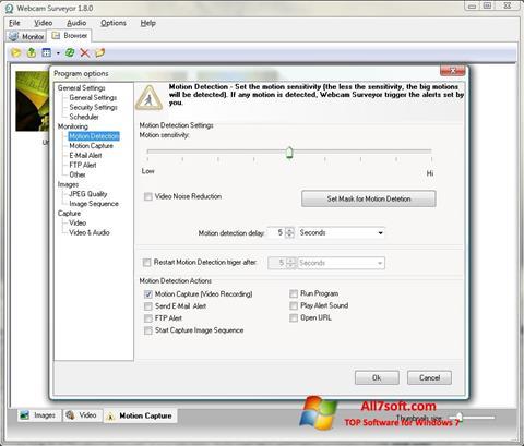 צילום מסך Webcam Surveyor Windows 7