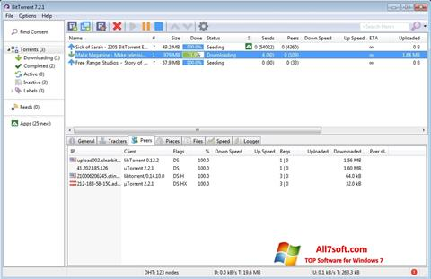 צילום מסך BitTorrent Windows 7