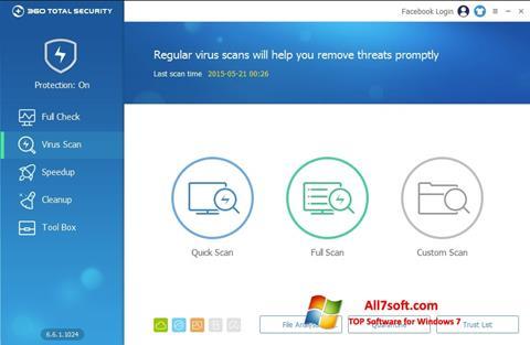 צילום מסך 360 Total Security Windows 7