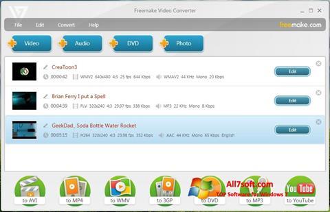 צילום מסך Freemake Video Converter Windows 7