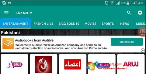 צילום מסך Net TV Windows 7