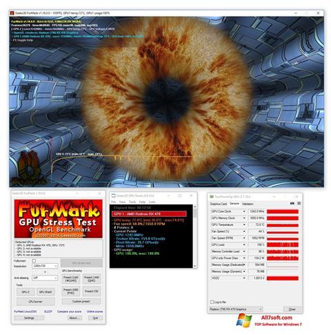 צילום מסך FurMark Windows 7