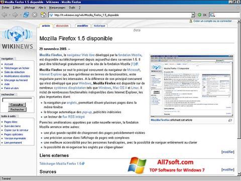 צילום מסך Mozilla Firefox Windows 7