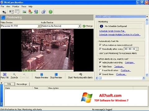 צילום מסך WebCam Monitor Windows 7
