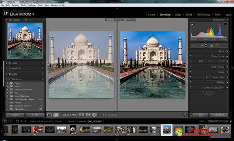 צילום מסך Adobe Photoshop Lightroom Windows 7