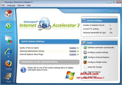 צילום מסך Ashampoo Internet Accelerator Windows 7