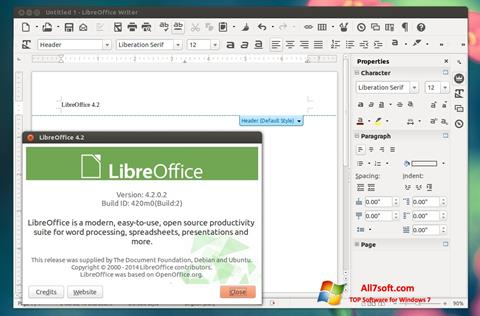 צילום מסך LibreOffice Windows 7