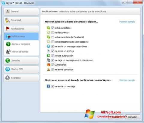 צילום מסך Skype Beta Windows 7