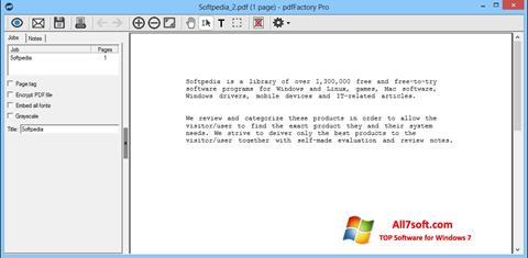 צילום מסך pdfFactory Pro Windows 7