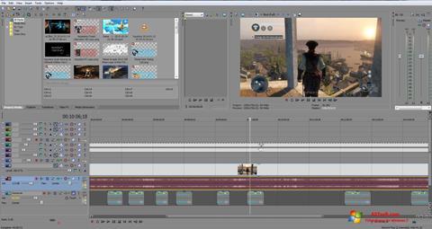 צילום מסך Sony Vegas Pro Windows 7