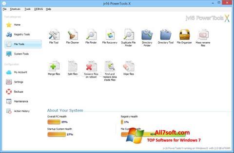 צילום מסך jv16 PowerTools Windows 7