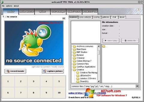 צילום מסך webcamXP Windows 7